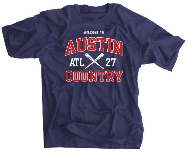 Welcome to Austin Country ATL Baseball Shirt