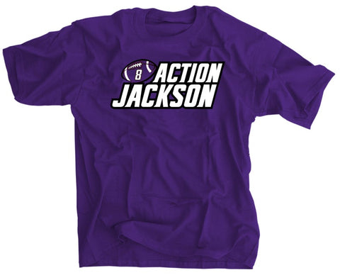 Lamar Jackson Action Jackson Baltimore Ravens Football Shirt