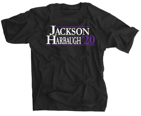 Lamar Jackson and John Harbaugh for President - 2020 election - Baltimore football shirt