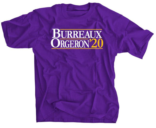 Joe Burreaux and Ed Orgeron for President - 2020 election - LSU football shirt