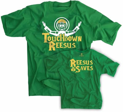 Touchdown Reesus ... Reesus Saves - Touchdown Jesus Shirt