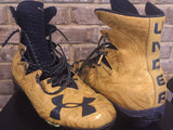 Jerry Tillery 2017 Notre Dame Team Issued/ Game Used Game Used Under Armour Cleats #99