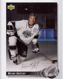 Wayne Gretzky Autographed 8 x 10 Los Angeles Kings Photograph - Upper Deck