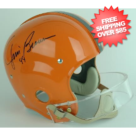 Jim Brown Syracuse Orangemen Autographed Full Size Replica Helmet
