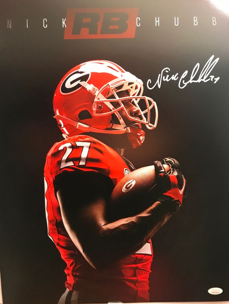 Nick Chubb signed/autographed 16x20 Poster Print Edit