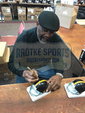 "Joe Greene Signed Pittsburgh Steelers Riddell Throwback NFL Mini Helmet with ""HOF 87"" Inscription"
