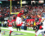 "Julio Jones Signed Atlanta Falcons 16x20 NFL Photo ""Endzone Leap"""