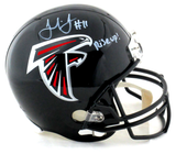 "Julio Jones Signed Atlanta Falcons Riddell Full Size NFL Helmet With ""Rise Up"" Inscription"