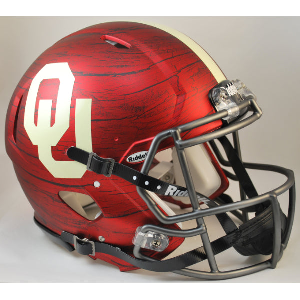 OKLAHOMA REVOLUTION SPEED AUTHENTIC BRING THE WOOD HYDRO RED HELMET