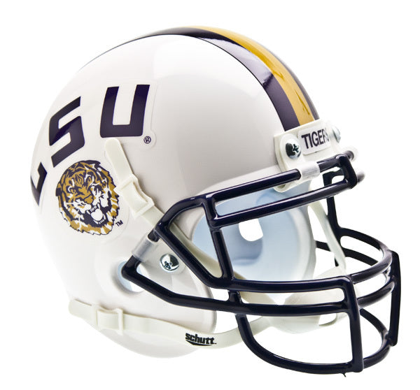 LSU Tigers White Schutt XP Mini Helmet