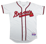 Greg Maddux Signed Atlanta Braves Majestic Authentic MLB Jersey With 3 Career Stats Inscription