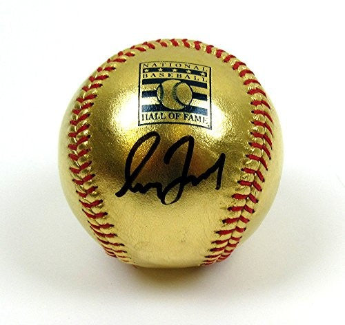 Greg Maddux Autographed/Signed Hall Of Fame Commemorative Rawlings 24 Karat Gold Major League Baseball #3 - MLB Authenticated