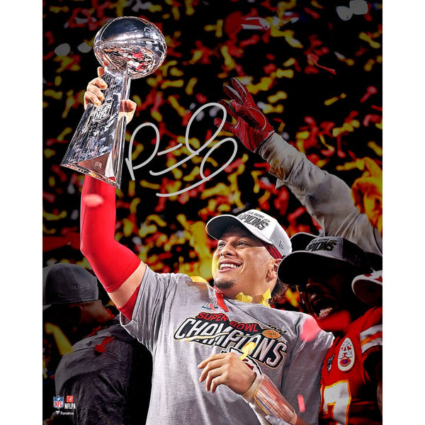 "Patrick Mahomes Kansas City Chiefs Super Bowl LIV Champions Autographed 16"" x 20"" Super Bowl LIV Photograph"