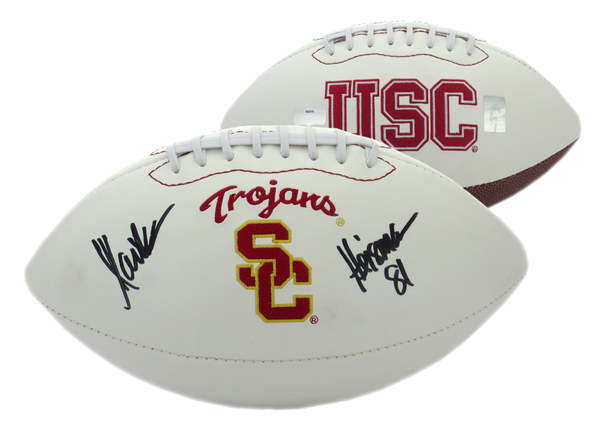 "Marcus Allen Signed USC Trojans Embroidered Logo Football With ""Heisman 81"" Inscription - Memorabilia - SPORTSCRACK"