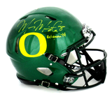 "Marcus Mariota Signed Oregon Ducks Green Authentic Speed Helmet With ""Heisman 14"" Inscription"