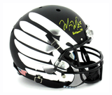 "Marcus Mariota Signed Oregon Ducks Full Size Matte Black Wing Helmet With ""Heisman 14"" Inscription"