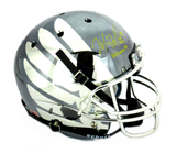 "Marcus Mariota Signed Oregon Ducks Schutt Full Size Chrome Smoke Wing Helmet With ""Heisman 14"" Inscription"