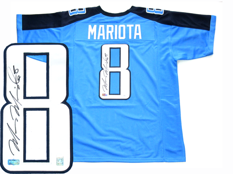 Marcus Mariota Signed Tennessee Titans Blue Custom Jersey