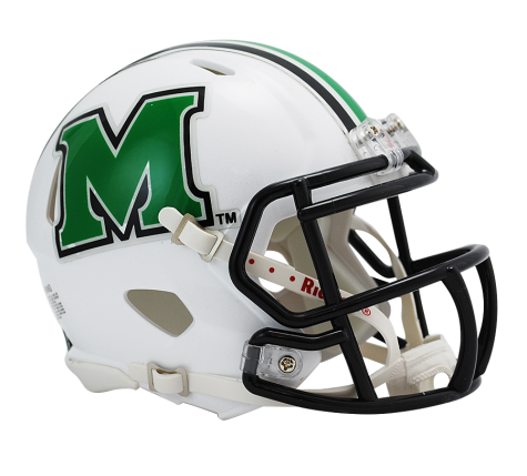 Marshall Thundering Herd White Riddell Speed Mini Helmet - Helmet - SPORTSCRACK