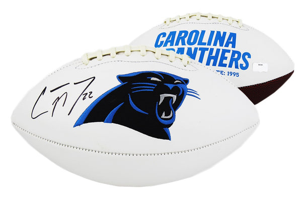 Christian McCaffrey Signed Carolina Panthers NFL Embroidered Football