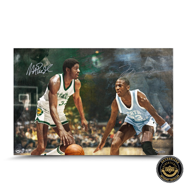 "Michael Jordan & Magic Johnson Signed ""Remember The Times"" 16x24 Photo - LE"