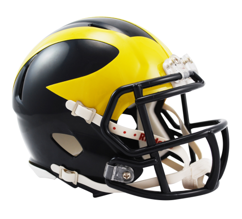 Michigan Wolverines Riddell Speed Mini Helmet - Helmet - SPORTSCRACK