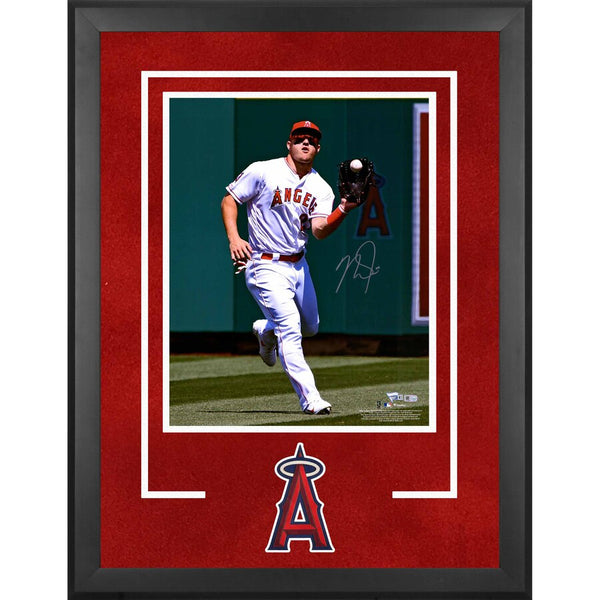 "Mike Trout Los Angeles Angels Fanatics Authentic Deluxe Framed Autographed 16"" x 20"" Catching Ball Photograph"