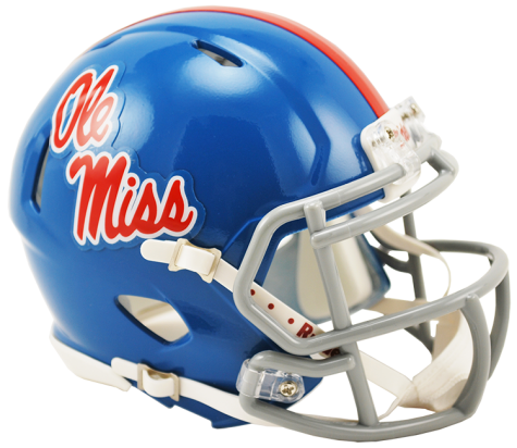 Mississippi Ole Miss Rebels Powder Blue Riddell Speed Mini Helmet