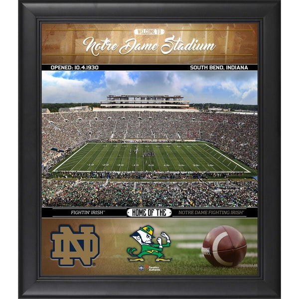 "Notre Dame Fighting Irish Framed 15"" x 17"" Welcome Home Collage"