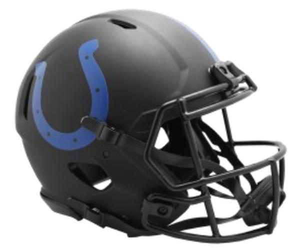 INDIANAPOLIS COLTS ECLIPSE BLACK SPEED MINI HELMET
