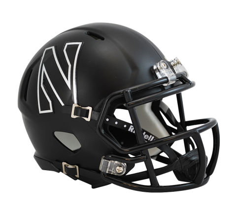 Northwestern Wildcats BLACK Riddell Speed Mini Helmet - Helmet - SPORTSCRACK