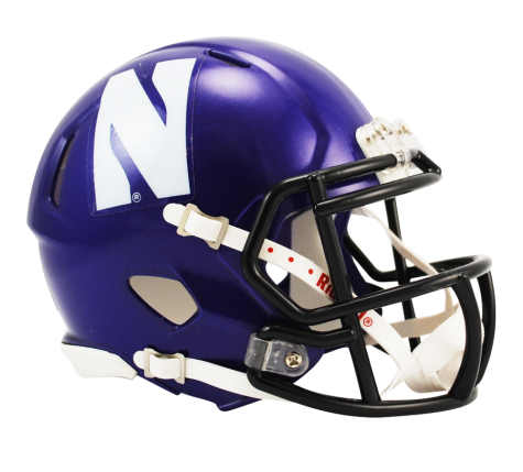Northwestern Wildcats Riddell Speed Mini Helmet - Helmet - SPORTSCRACK