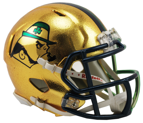Notre Dame 2015 Shamrock Series Boston HYDROFX Riddell Speed Mini Helmet