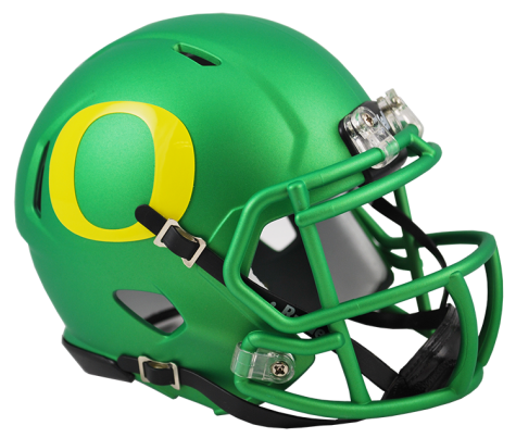 Oregon Ducks Apple Green Riddell Speed Mini Helmet - Helmet - SPORTSCRACK