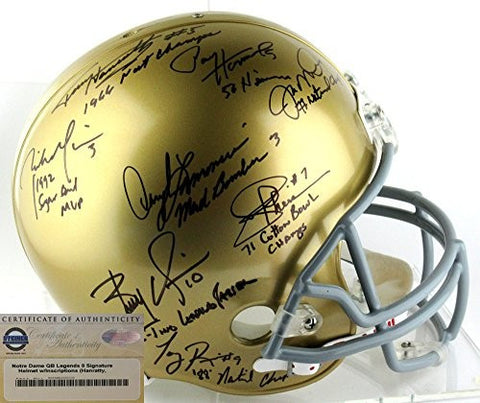 Notre Dame Fighting Irish Riddell Full Size Helmet Signed By 8 All-Time Greats