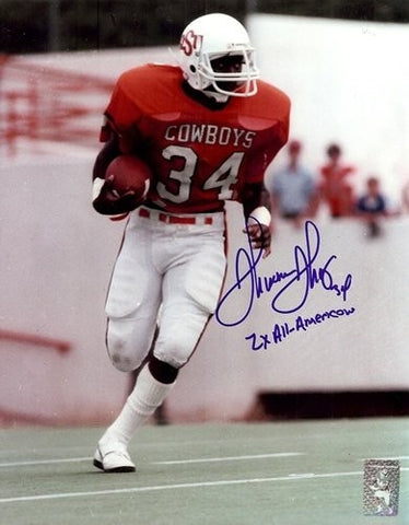 f79946681be Thurman Thomas Autographed/Signed Oklahoma State Cowboys 8x10