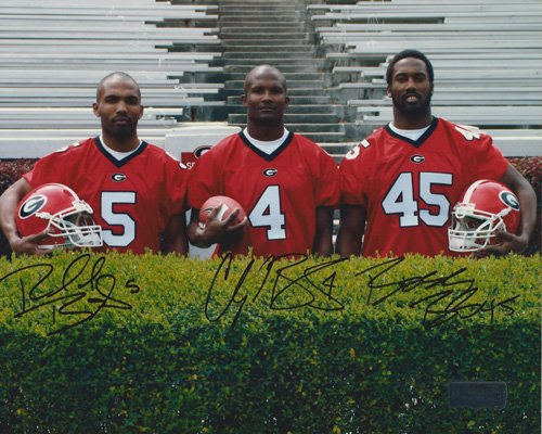 "Champ, Boss, & Ronald Bailey Autographed/Signed Georgia Bulldogs 16×20 NCAA Photo ""Behind the Hedges"""