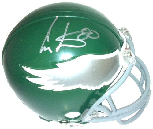 Cris Carter Autographed/Signed Philadelphia Eagles Throwback Riddell Mini Helmet