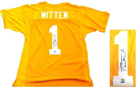 Jason Witten Autographed/Signed Tennessee Volunteers Orange Custom NCAA Jersey