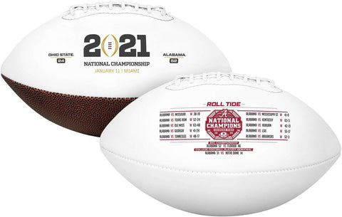 Alabama Crimson Tide Fanatics Authentic College Football Playoff 2020 National Champions White Panel Football