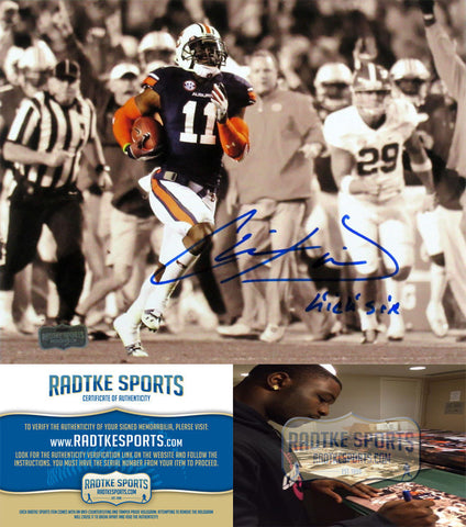 Chris Davis Jr Autographed/Signed Auburn Tigers Spotlight 8x10 Photo Kick Six