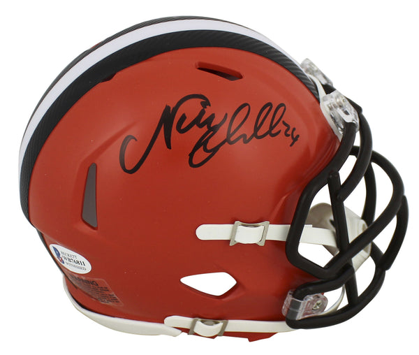 Nick Chubb Signed Cleveland Browns Speed Mini Helmet