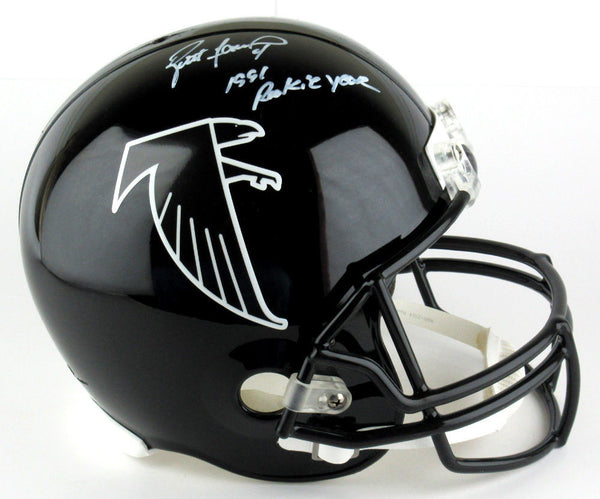 Brett Favre Autographed/Signed Atlanta Falcons Throwback Full Size Helmet Rookie