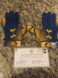 Navy Midshipmen Blue Angels Under Armour Football Gloves