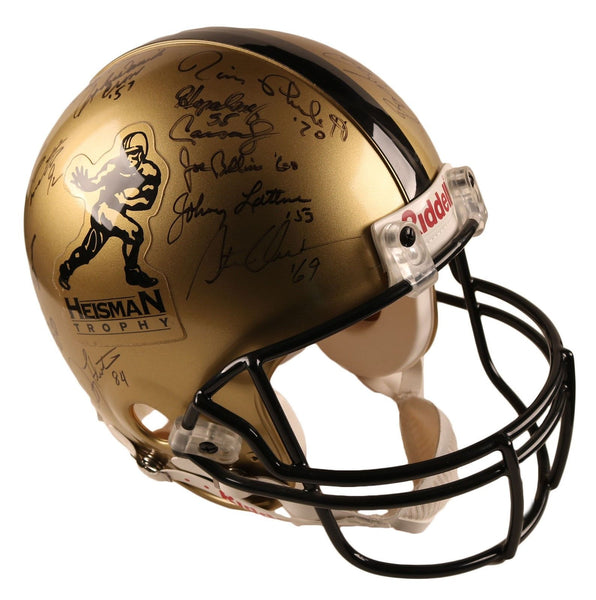 Heisman Winners Authentic Helmet With 28 Signatures