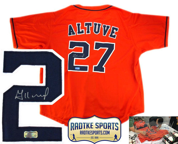 Jose Altuve Autographed/Signed Houston Astros Orange Custom Jersey