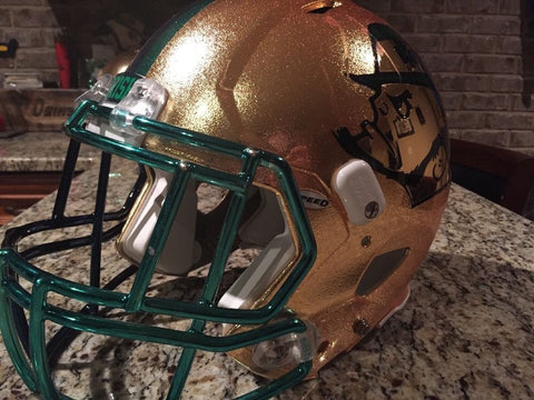 Notre Dame Football 2015 Shamrock Series Game Used Worn Helmet #5