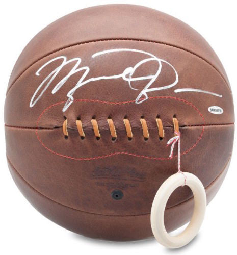 MICHAEL JORDAN Autographed Leather Head Naismith Basketball UDA