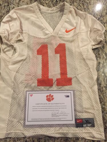 Isaiah Simmons Clemson Tigers Fanatics Authentic Practice-Used #11 White Jersey from the 2015-17 Football Seasons - Size XL