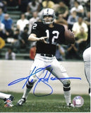 "Ken Stabler Autographed/Signed Oakland Raiders 8x10 NFL Photo ""Throwing"""